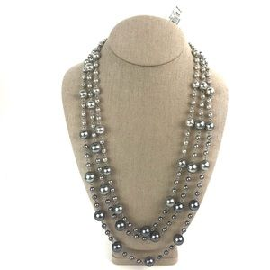 Brooks Brothers Multi Strand Ombre Pearl Necklace